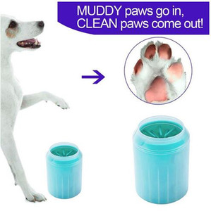 Dog paw cleaner portable pet foot washer pet cleaning brush cup cats dogs feet cleaner soft brush for muddy feet pet grooming supplies