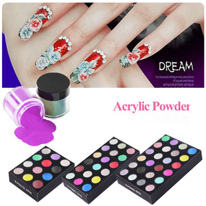 Wholesale acrylic nail powder mix resale online - Nail Art Salon Crystal Acrylic Powders Sculpture Powder Mixed Colors Set Kits Package G Bottle Colors