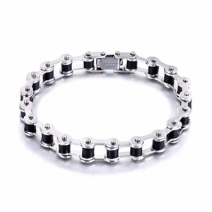 Wholesale High Quality Stainless Steel Chain Bracelet for Men Bicycle Chain Bracelets for Women Fashion Titanium Steel Bracelet B105
