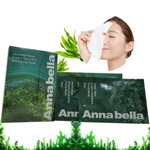 Wholesale Thailand Annabella Seaweed Brightening Hydrating Skin Care Oil Control Oxygen Fabric Face Mask Shrink Pore Moistuizing Facial Mask