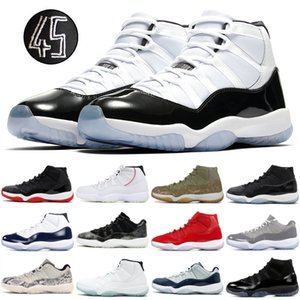 11 11s Basketball Bhoes Boncord 45 Bred Gamma Blue Win Like 82 Snake Light Bone Men Women Designer Shoes Trainers Sneakers US5.5-13