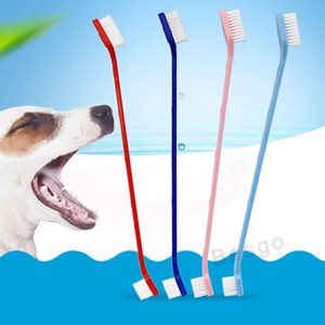 Wholesale dog tooth brushing resale online - Pet Supplies Soft Dog Toothbrush Cat Puppy Dental Grooming Toothbrush Teeth Brush Dogs Health Tooth Washing Cleaning Tools DBC BH2856