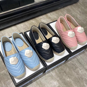 Wholesale leather boats resale online - Designer classic platform shoes luxury lady Flat women casual shoes Metal buckle leather Ladies Lazy boat shoes size us4 us10