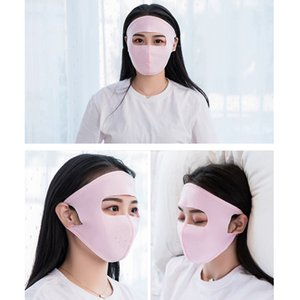 Wholesale New Silk Scarf Bib Female Mask Cover Face Ice Silk Mask Sunscreen Neck Men And Women Spring And Summer