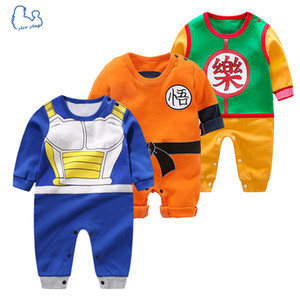 Wholesale Yierying High Quality Clothing Cartoon Rompers Dragon Ball Style Long Sleeve Jumpsuits Baby Boy Girl Clothes Q190520