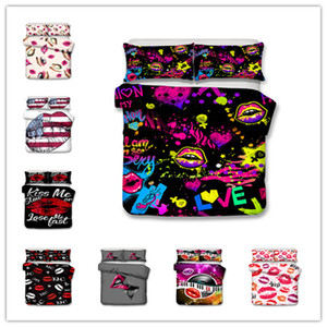 Wholesale 3D Hot sale sexy Lip Printing Bedding sets duvet cover set twin single double queen king sizes