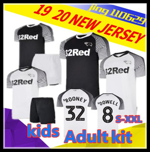 S-XXL 2019 2020 Derby County Adult kids soccer jerseys 19 20 Home away third ROONEY 32 HUDDLESTONE WAGHORN LAWRENCE White blue black 2 Foot on Sale