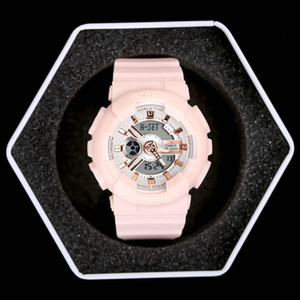 Wholesale New Top quality baby brand women G sport digital LED watch with Autolight and shock and waterproof all pointers work with box
