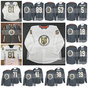 Custom Men Lady Kids Vegas Strong Golden Knights 29 Fleury 18 Neal 71 Karlsson 88 Schmidt 4 56 57 81 MARCHESSAULT Training Hockey jersey on Sale