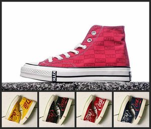 Wholesale New Converse All Star X STUDIO Kith Chuck Monogram Designer Red Black Yellow Running Skateboard Shoes Casual Sneakers