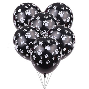 Wholesale decorated balloons resale online - Dogs Claw Printing Balloon Inches Child Birthday Decorate Airballoon Latex Balloons Black White New Arrival xt C1