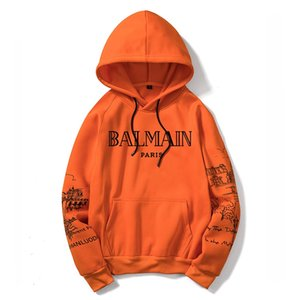 Wholesale Sports Balmain Sweatshirt Hoodie Mens Womens Jacket Long Sleeve Logo Autumn balmain Windbreaker Designer Mens Clothes Large Size Hoodie