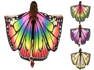 Wholesale Chamsgend Drop Shipping HOT Women Butterfly Wings Pashmina Shawl Scarf Nymph Pixie Poncho Costume Accessory GB446