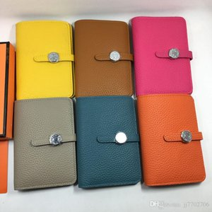Wholesale 5036 Fashion Women Credit Card Holder Wallet Real Leather Hasp ID Card Case Purse with Zipper Coin Pocket Windows Female Billfold Money Bag