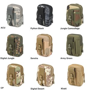 Wholesale designer hip bag resale online - High Qualiyt Wallet Pouch Purse Phone Case Outdoor Tactical Holster Military Molle Hip Waist Belt Bag with Zipper for iPhone Samsung