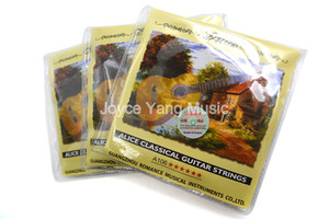 3 Sets of Alice A106-H Clear Nylon Classical Guitar Strings Silver-Plated Copper Alloy Wound Strings 1st-6th Strings