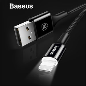 Wholesale Baseus LED lighting Charger For iPhone X USB For iPhone iPad Fast Charging Charger Cable Mobile Phone Data