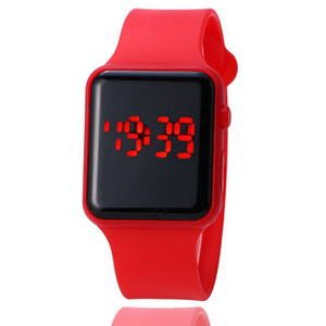 Wholesale Smart2019 Originality Square Korean Concise Jelly Fashion Trend Decoration Men And Women Apple Led Electronic Watch