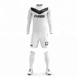 Wholesale High quality long sleeve soccer team kids soccer jersey custom training team sets soccer jerseys