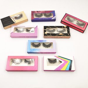 Wholesale flash eyelashes for sale - Group buy 1 pair Flash Paper Box Thick Long D Faux Mink Eyelashes Long Lasting False Eyelashes Natural Dramatic Volume Eyelashes Extension