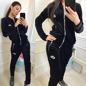 Designer Tracksuit women Luxury Sweat Suits Autumn Brand womens Tracksuits Jogger Suits Jacket + Pants Sets Sporting Suit Print cotton