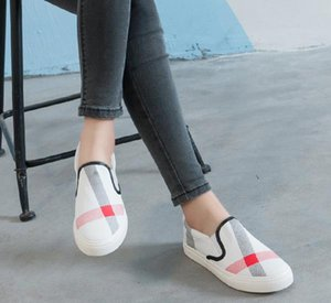 Wholesale womens casual shoe summer autumn fashion brand breathable canvas shoes lazy slip on women shoes womens flat espadrilles