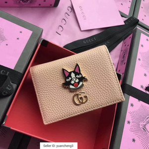 Wholesale yuancheng3 Boston Terrier shape small card package nude powder Women Long Wallet Chain Wallets Purse Clutches Evening Key Mini Belt