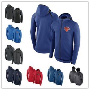 Wholesale 2019 Men Thunder Knicks Pelicans Heat Timberwolves Outdoor Jackets Showtime Therma Flex Performance Full Zip Hoodie