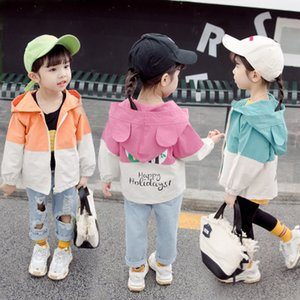 Wholesale kids designer jackets Baby coat clothes 2019 autumn children toddler boy designer Korean short paragraph boys girls stitching cartoon jacket