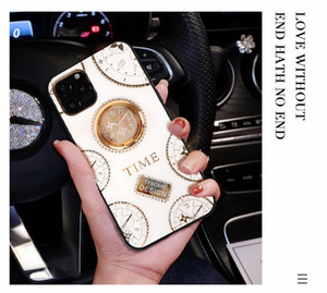Wholesale For iphone pro max samsung huawei case new clock cell phone ring silicone sleeve magnetic bracket luxury designer iphone cases