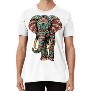 Wholesale pink elephants for sale - Group buy Ornate Elephant Color Version T Shirt Elephant Bioworkz Pachyderm Dumbo Ornate Patterns Sacred Geometry Trend Size S XL