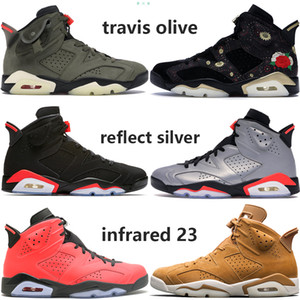 Wholesale shoes psg resale online - Travis olive yellow s Basketball Shoes mens black infrared PSG CNY reflect silver flint tinker oreo luxury designer men trainers US