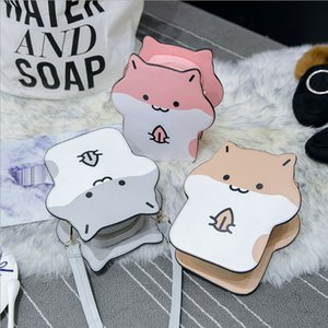 Wholesale New Arrival Hamster Bag Mouse Cartoon Women Messenger Bags Shoulder Casual Hit Color Hamsters Cute Crossbody Bags