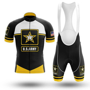 New 2021 US Army Cycling team CCC jersey 19D pad Bike shorts set quick dry Ropa Ciclismo Mens pro BICYCLING Maillot Culotte wear