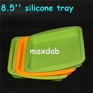 """wholesale Deep Dish square Pan 8.5"""" friendly Non Stick Silicone Containers Concentrate Oil BHO silicone trays silicone deep trays water pipe"""