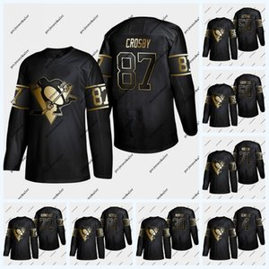 Wholesale Pittsburgh Penguins 2019 Golden Edition 87 Sidney Crosby 58 Kris Letang 71 Evgeni Malkin 72 Patric Hornqvist 81 Phil Kessel Jersey