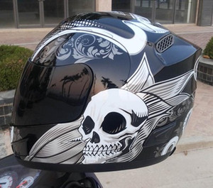 Wholesale ARAI Free Shipping Skull Full Face Motorcycle Helmet Racing With Single Goggle REPLICA HELMET Capacetes Casco Moto(Replica-Not Original)
