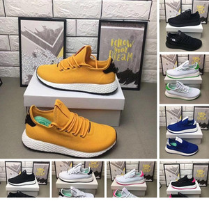 Breathable Tennis Hu Pharrell Williams x Stan Smith Running Shoes For Men Women Black White Red Yellow Jogging fitness Sports Sneakers Shoes
