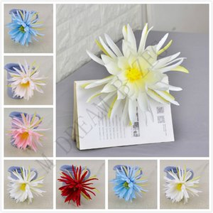 21cm DIY artificial flower epiphyllum head 6 colors fashion silk epiphyllum heads for wedding party supplies simulation flower home decor