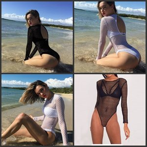 Wholesale Diamond Hollowing Out Grid Bikini For Women Backless Summer Sexy Swimming Suit Black White Beach Simple Fashion Swimwear sjD1