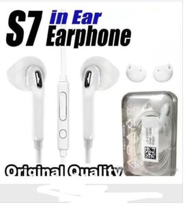 Wholesale High Quality Earphones For S7 S6 edge Galaxy Headphone In Ear Headset With Mic Volume Control For Iphone s WithRetail