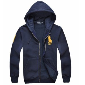 Wholesale 2019 new Hot sale Men s Jackets Big Horse polo Hoodies and Sweatshirts autumn winter casual with a hood sport jacket men s hoodies