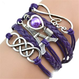 Wholesale New Eiffel Tower Bracelets For Women Multilayer Leather Bangle Chain Apparel Accessories