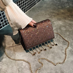 Distinctive2019 Light Stars Leather Material Woman Mini- Hand Take Single Shoulder Diagonal Span Function Chain Package
