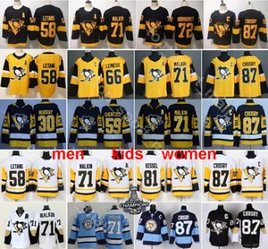 Pittsburgh Penguins Jersey 87 Sidney Crosby Evgeni Malkin Kris Letang Mario Lemieux Matt Murray Jake Guentzel Patric Hornqvist Hockey Black on Sale