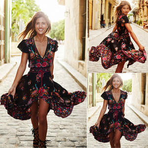 Women Boho Long Dress Evening Party Dress Chiffon Maxi Dress Summer Beach Dresses