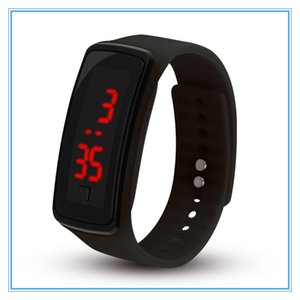 Wholesale Fashion Sport LED Watches Candy Jelly men women Silicone Rubber Touch Screen Digital Watches Bracelet Wrist watch