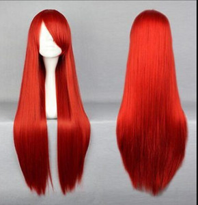 Wholesale WIG FAST POP Classic cm Long Fairy Tail Elza Scarlet Red Cosplay Anime Wig