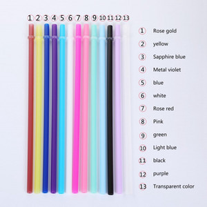 Wholesale Plastic Straws 24cm PP Drinking Straws Colorful Straight Cup Straws 9.45inch Straw for Vacuum Cup LJJO7222-2