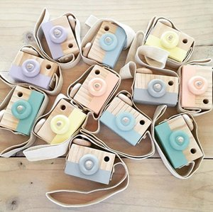 Wholesale Creative Wooden Toy Camera Baby Kids Hanging Camera Photography Prop Decoration Children Educational Toy Birthday Christmas Gifts